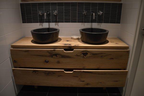 Badkamermeubel van hout maken for Zelf meubels maken van hout