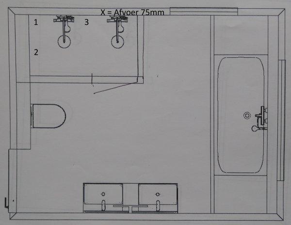 Bekend Douchegoot plaatsen in dubbele douche: welke plek en breedte TW57
