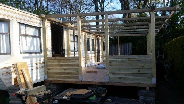 Voorkeur Kieren geimpregneerd hout veranda opvullen &OK14
