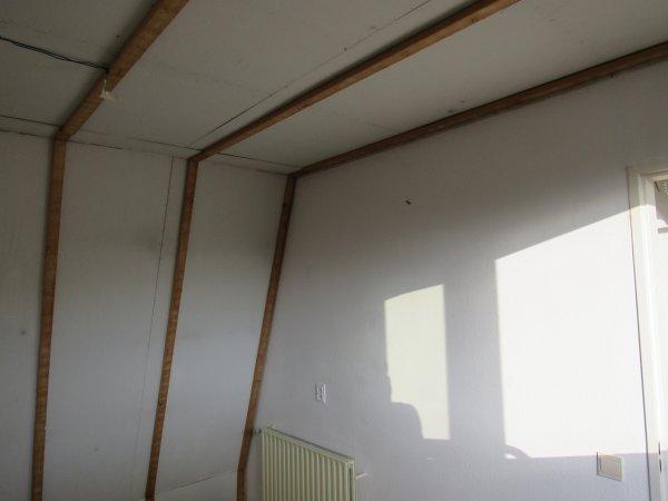 Beroemd Afwerking plafond na het verwijderen van houten schrootjes QI91