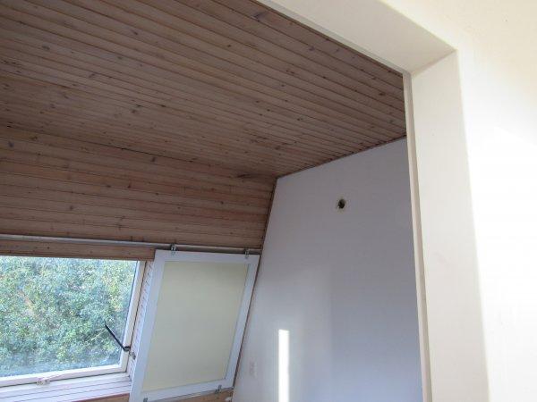 Beroemd Afwerking plafond na het verwijderen van houten schrootjes BV55