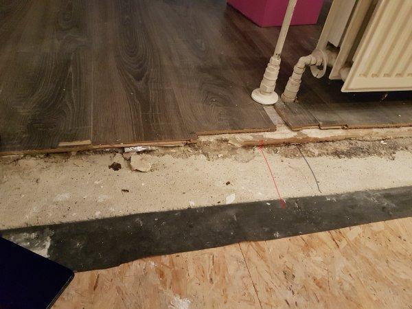 Nieuwe Houten Vloer : Houten vloer aansluiten op betonnen