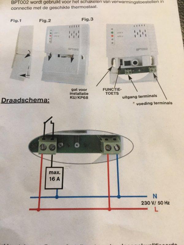 Voorkeur Thermostaat aansluiten op infraroodpaneel XK12