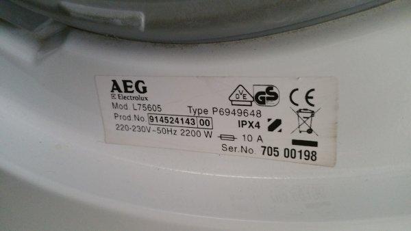Iets Nieuws Wasmachine Aeg Lavamat 75605 resetten en code uitlezen ? WS91