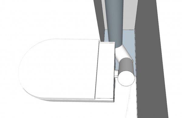 Zwevend toilet aansluiten op standleiding