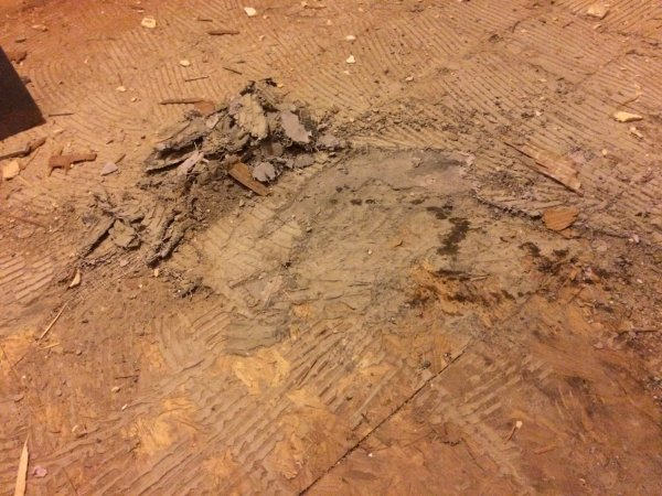 Vloer egaliseren houten chalet