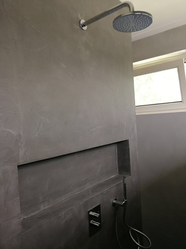 Badkamerwand Met Waterdichte Betoncire Klusidee Nl