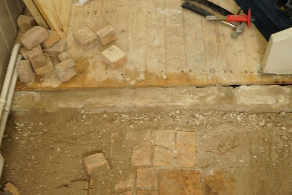 Marmer cement vloer vervangen
