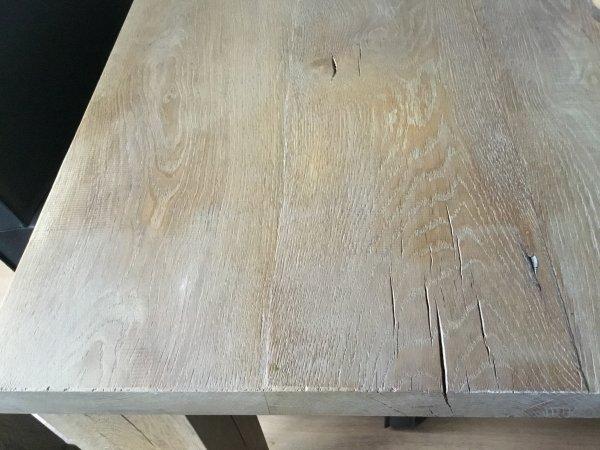 Gerookt Eiken Tafel : Massief eiken tafel opknappen help