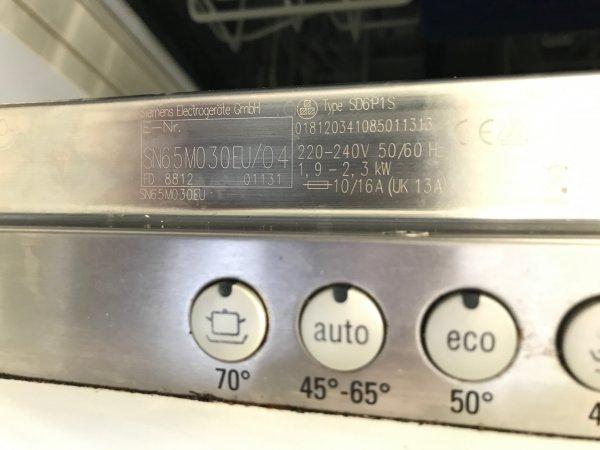 Bekend Siemens inbouw vaatwasser SD6P1S gaat na 10 minuten piepen UE17