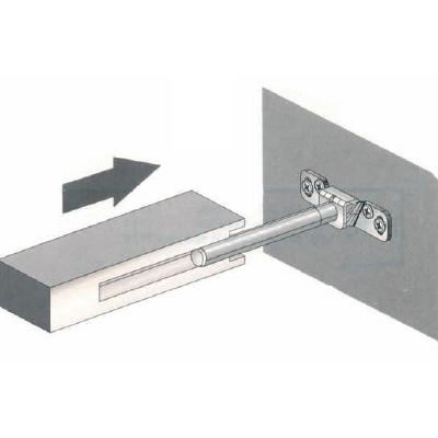 Plank Met Onzichtbare Bevestiging.Ophangsysteem Voor Zijkant Blinde Plank
