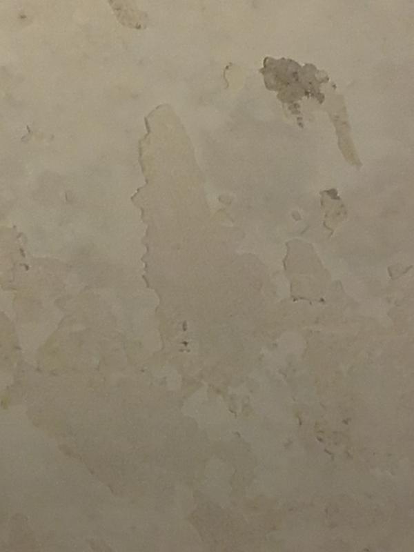 Schimmel en kale plekken plafond badkamer