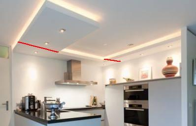 Verlaagd plafond in keuken