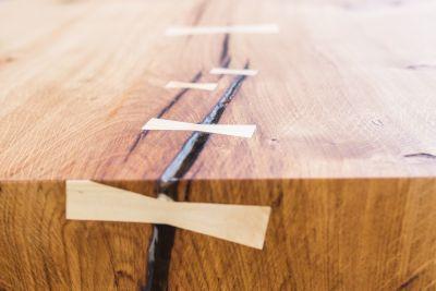 Houtschijven drogen voor een tafelblad for Tafelblad maken