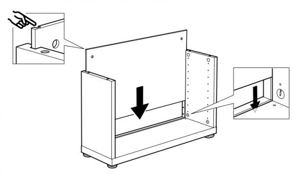 Ikea Besta Kast Vrijstaand